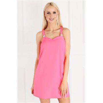 Sukienka A51/109 różowy neon