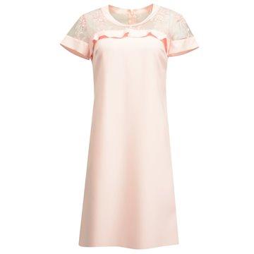 Sukienka model Kolena różowa
