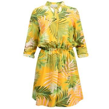 Sukienka model Olla zielone wzory