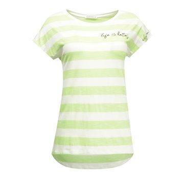 Bluzka damska zielone paski