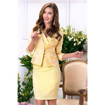 Żakiet damski model Iza żółty