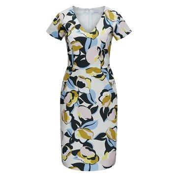 Sukienka A9SK27 kolorowe wzory