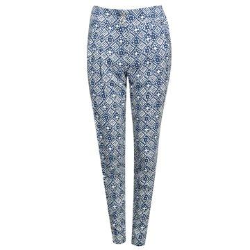 Spodnie damskie granatowe wzory