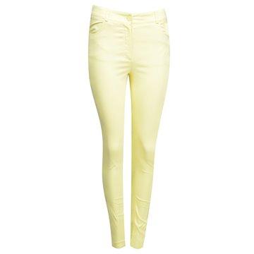 Spodnie damskie żółte