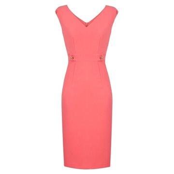 Sukienka A8SKJ0 koralowa