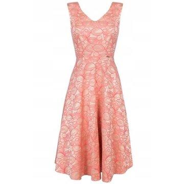 Sukienka A8SK38 koralowe wzory