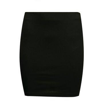 Spódnica E113/02 czarna ze złotym lampasem