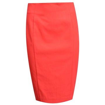 Spódnica czerwona ołówkowa 37208