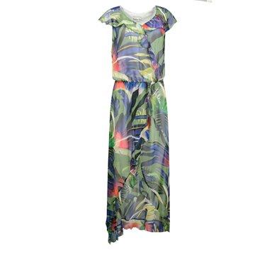 Sukienka Kamila fioletowe wzory