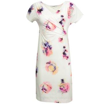 Sukienka Seti biała w kolorowe wzory