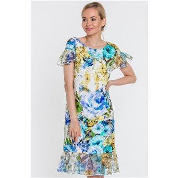 Sukienka 6008 kolorowe wzory
