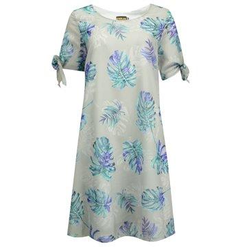 Sukienka szara w liście
