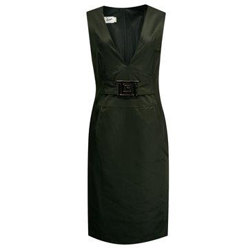 Sukienka Anna czarna klamrą