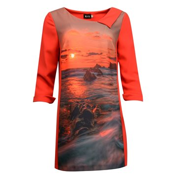 Sukienka-tunika czerwona