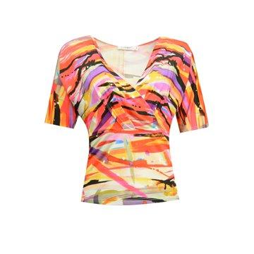 Bluzka damska model Pamela kolorowe wzory