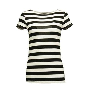 Bluzka damska w biało-czarne paseczki
