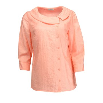 Różowa bluzka damska z jedwabiem