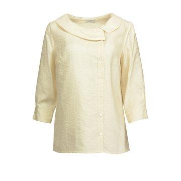 Kremowa bluzka damska z jedwabiem