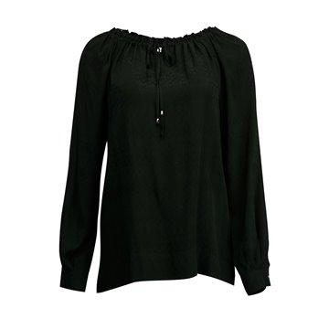Czarna bluzka damska z wiskozy