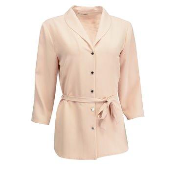 Różowa bluzka damska z paskiem