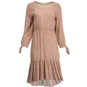 Brązowa zwiewna sukienka z falbanami