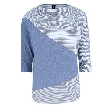 Niebieska bluzka damska w paseczki