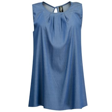 Niebieska bluzka damska bez rękawów