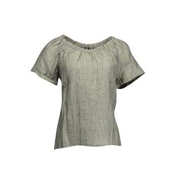 Lniana bluzka damska w szarym kolorze