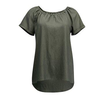 Grafitowa luźna bluzka damska