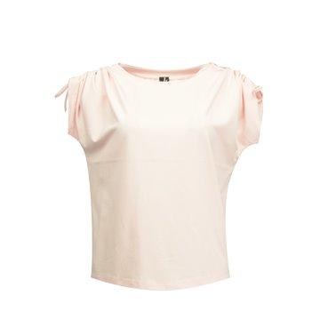 Różowa bluzka damska z bawełny