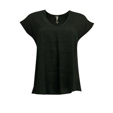 Czarna luźna bluzka damska