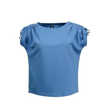 Niebieska bluzka damska z bawełny