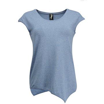 Niebieska asymetryczna bluzka damska