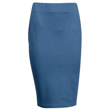 Niebieska ołówkowa spódnica