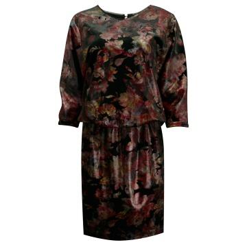 Sukienka z weluru w kwiaty...