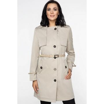 Beżowy płaszcz damski Alicja