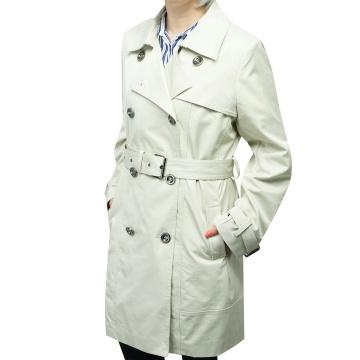 Beżowy płaszcz damski Justyna