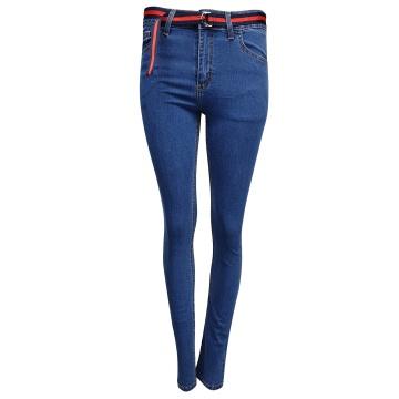 Spodnie jeansowe damskie z...
