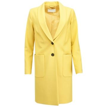 Miodowy płaszcz damski PL 409