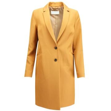 Miodowy płaszcz damski