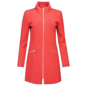 Płaszcz damski czerwony Enrica