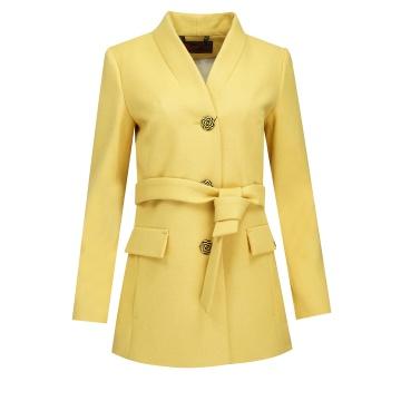 Miodowy krótki płaszcz...