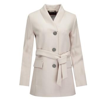Różowy krótki płaszcz...