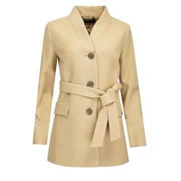 Beżowy krótki płaszcz...