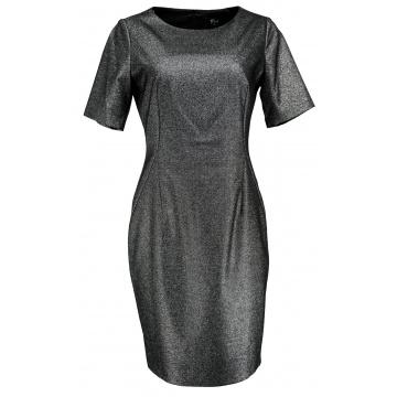 Czarno srebrna sukienka...