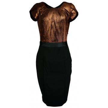Brązowo czarna sukienka...