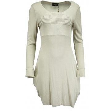 Beżowa bawełniana sukienka
