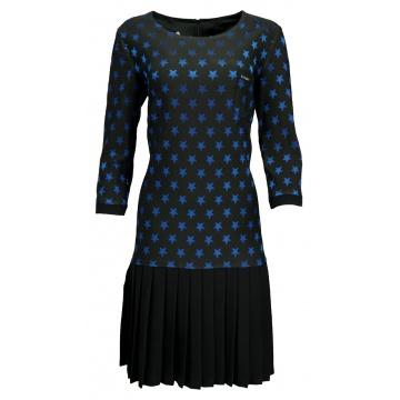 Czarna plisowana sukienka w...
