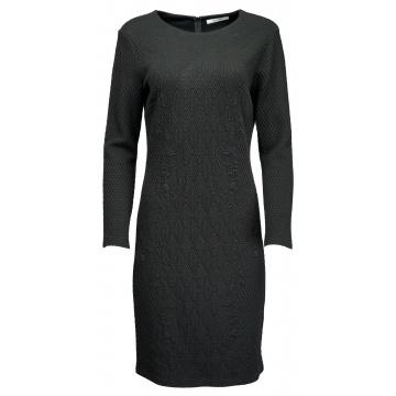 Czarna sukienka w kwieciste...