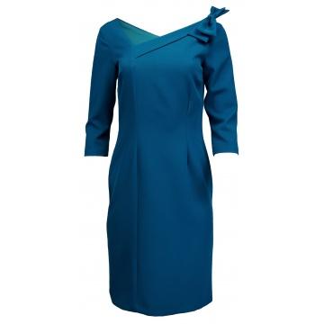 Szafirowa sukienka z...